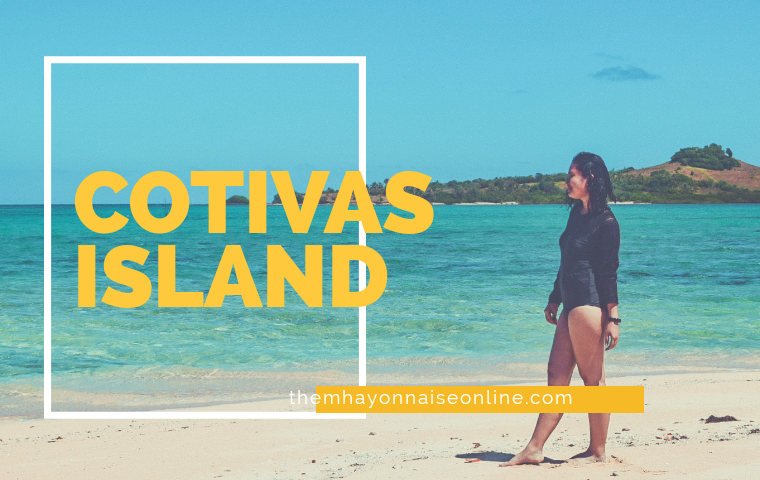 photo of a gril in black onsie swimsuit in cotivas island caramoan | themhayonnaise