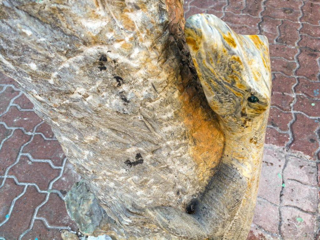 lizard-shaped marble