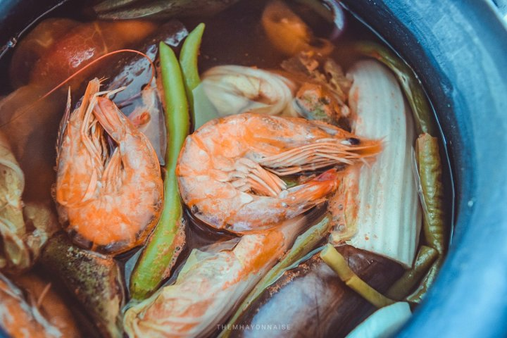 shrimp sinigang | ciao pizzeria by the sea | sundowners bolinao | themhayonnaise
